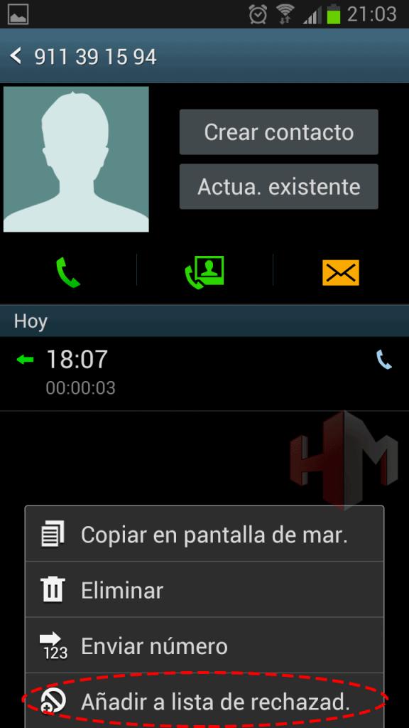 bloquear llamada 3
