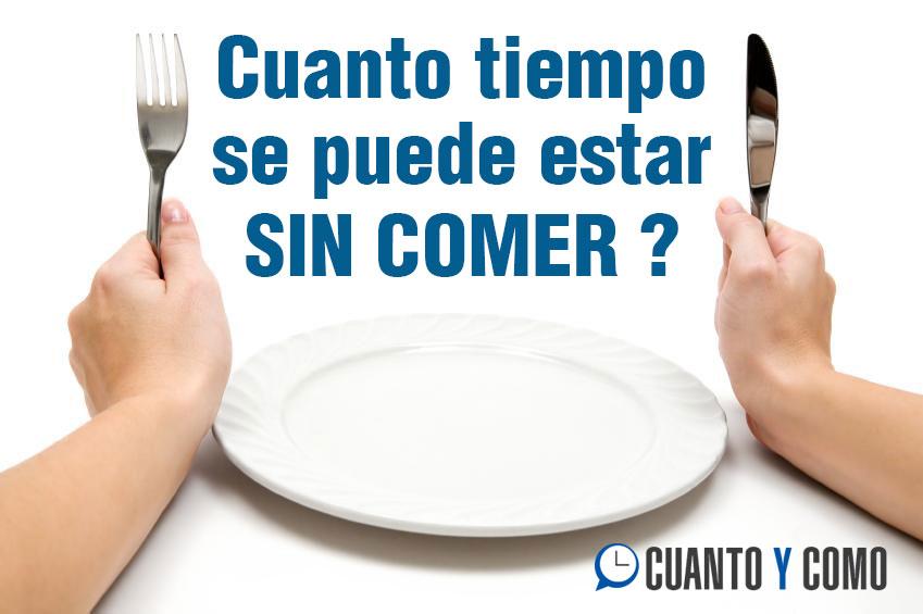 Cuanto tiempo aguanta un humano sin comer?