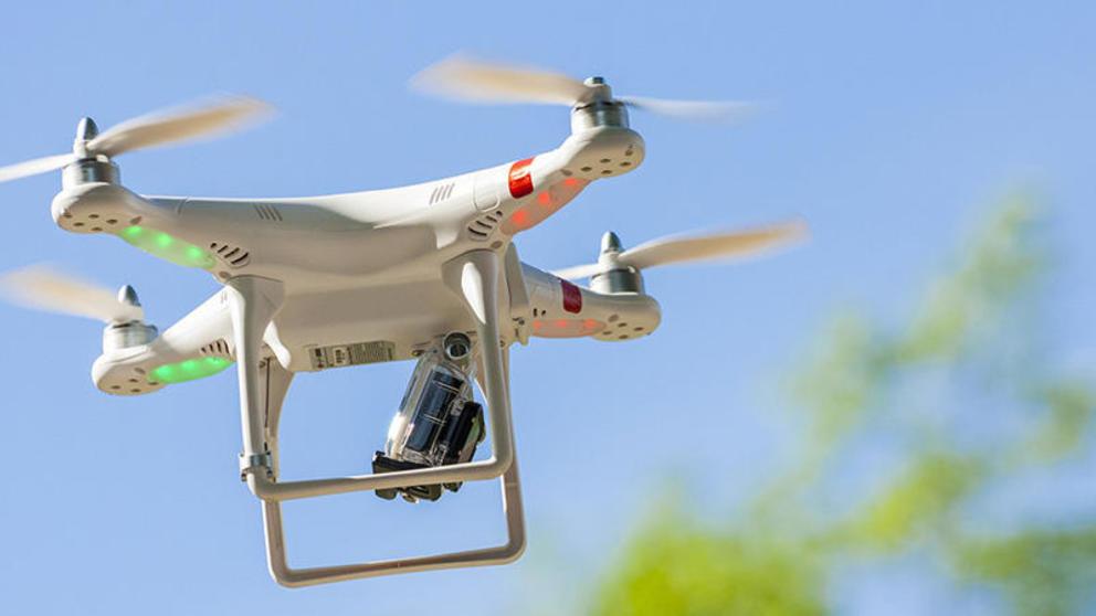 drone en el aire