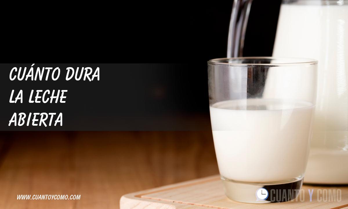 Cuanto dura la leche abierta?