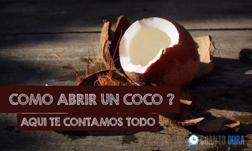 Como abrir un coco