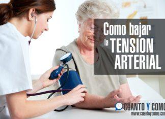 como bajar tension arterial