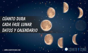 Cuanto dura cada fase lunar - Calendario lunar 2020
