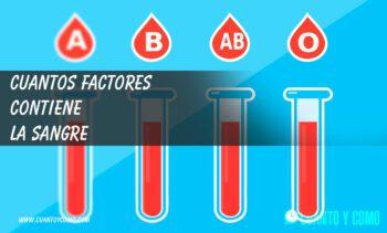 Factores y grupos sanguíneos