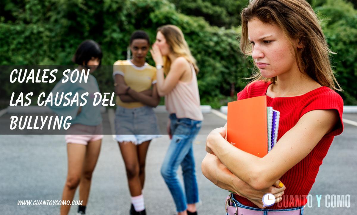 causas del bullying o acoso escolar
