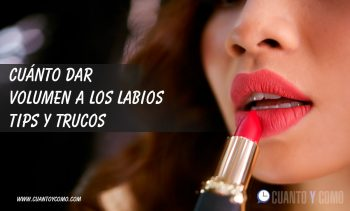 Como dar volumen a los labios