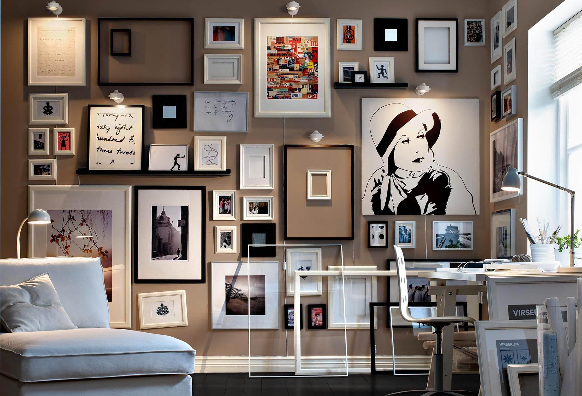 Como poner muchos cuadros en una pared